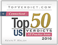 Top 50 | US Verdicts | All Practice Areas | 2016 | Kevin P. Walsh